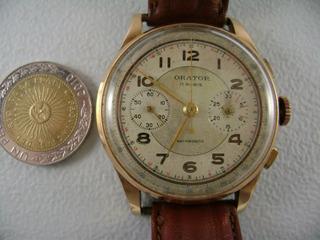 Reloj Antiguo Cronografo De Oro 18 K
