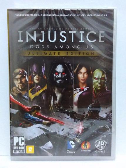 Injustice Gods Among Us Pc Novo Fisica Original Mídia Física