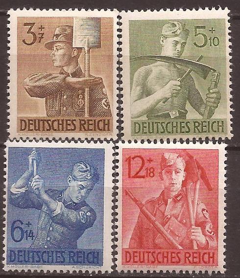 2º Guerra Alemania Serie Obreros Del Reich 4 Sellos Mint