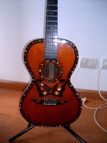 Guitarra Antigua Acústica Italiana Catania Parlor Mariposa