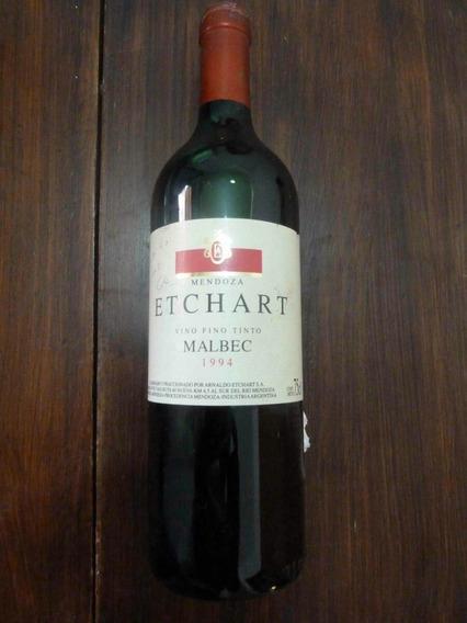Botella De Vino Antigua Etchart Mendoza Malbec 94 Exclusivo