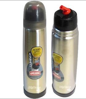 Termo Lumilagro Acero Inoxidable Luminox 1 Litro Bala Cuotas