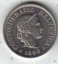 Suiza Moneda De 10 Rappen Año 1990 !!!