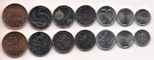 Serie De 7 Monedas Republica Checa Año 1993/02 Sin Circular