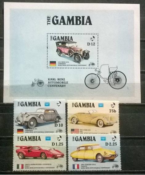 C@- Gambia - Autos Antiguos - Serie Completa + Block Mint -