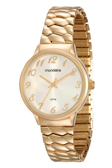 Relógio Mondaine Feminino Clássico Dourado 83313lpmgde2