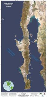 Poster Mapa De La Peninsula De Baja California