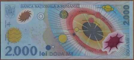 Rumania, 2000 Lei 2000 P111a Plastico