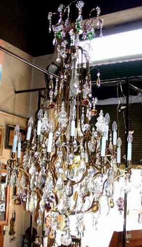 Antigua Araña Cristal Baccarat 16 Luces Mas De 300 Caireles