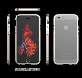 Case Capa Slim Borda Lateral Metal Acrilico iPhone 7 7 Plus