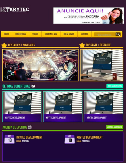 Promoção - Script Site Balada Eventos + Painel Administrável