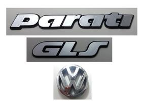 Kit Emblemas Volkswagen Parati Gls Vw Grade 91 À 97 Brinde
