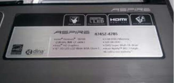 Peças Notbook Acer Aspire 4745z-4785