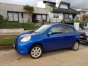 Nissan March Azul Electrico Extra Full Vendo O Perm X Bipper
