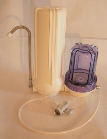 Filtro De Agua Tipo Sobremesada Doble Homologado Anmat-inal