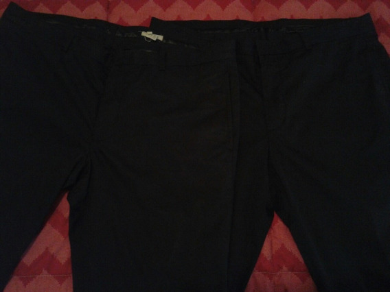 Pantalon Etiqueta Negra De Vestir Gris S/negro Xl