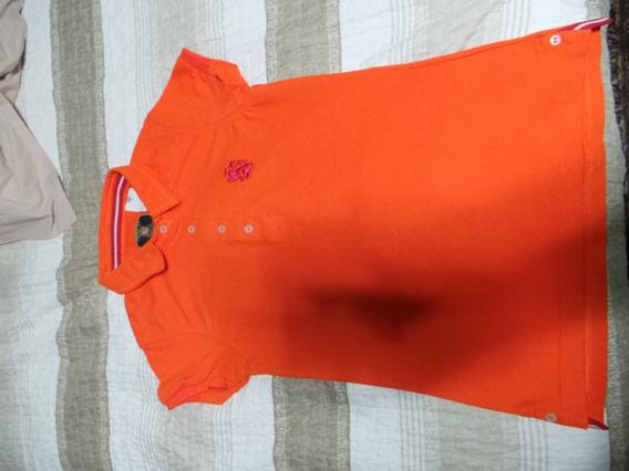 Camisa Polo Collection Feminina Laranja Tamanho P