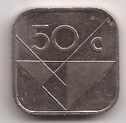 Aruba Moneda De 50 Cents Año 1986 !