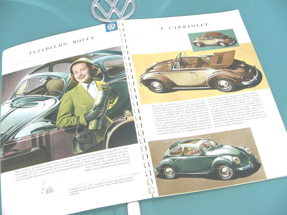 Raro Prospecto Volkswagen Vw Fusca Oval Alemão 1953