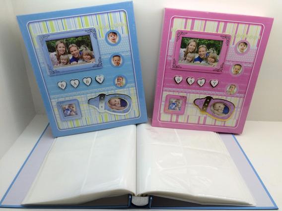 Álbum 240 Fotos 10x15 Modelos Bebe Cores Azul Ou Rosa