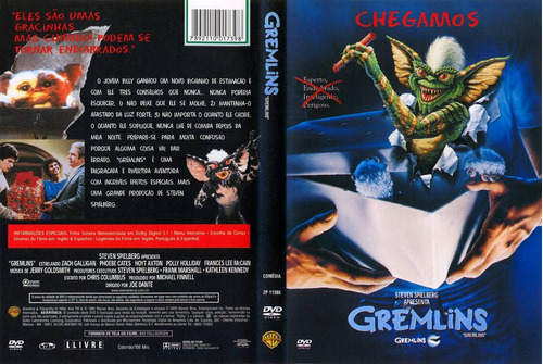 Dvd Gremlins (1984) Hoyt Axton - Dublagem Clássica Da Tv | Mercado Livre