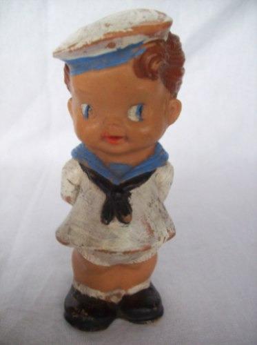 Antigua Muñeca De Goma Dura  Marinera