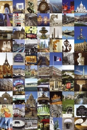 Poster Importado De Paris - Collage - 60 X 90 Cm