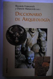 Libro Diccionario De Arqueología Riccardo Francovich