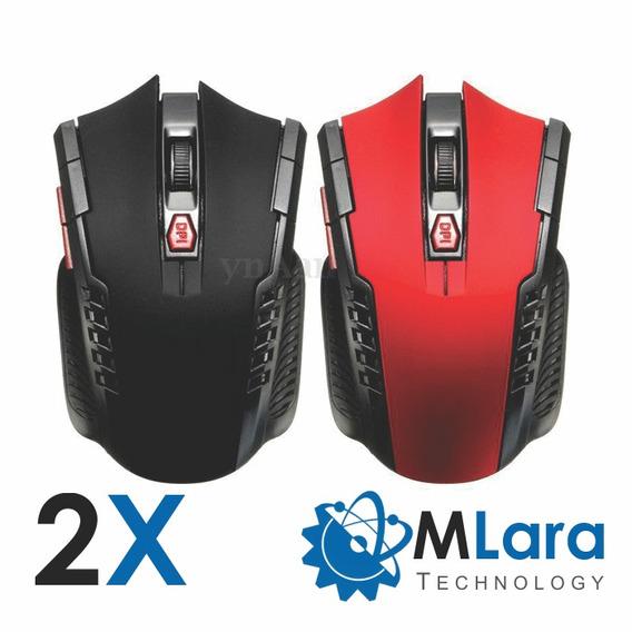 2x Mouse Wireless 6 Botões 2.4ghz 3000dpi - Frete Grátis