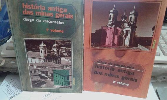 Livro-história Antiga Das Minas Gerais - Vol.1 E 2 -+brinde