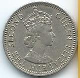 Moneda De Malaya Y Borneo 10 Cents 1961 Muy Recomendable
