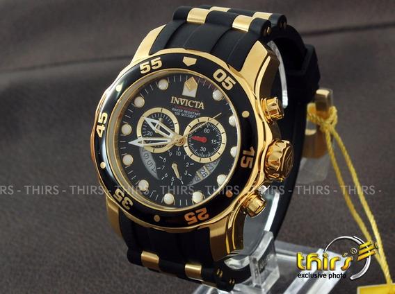Invicta Pro Diver 6981 Banhado A Ouro 18k Original Na Caixa