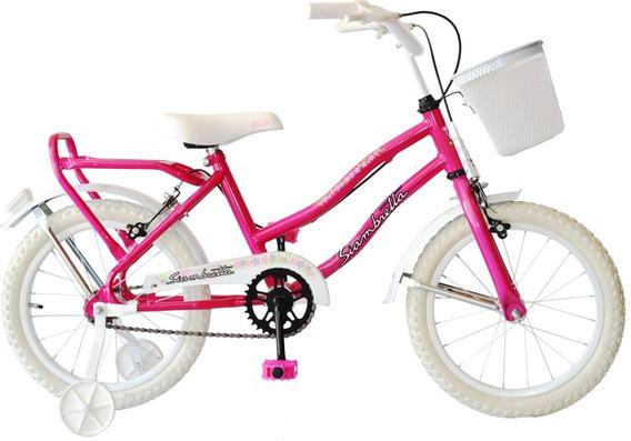 Bicicleta Playera Niñas Rodado 16 Siambretta