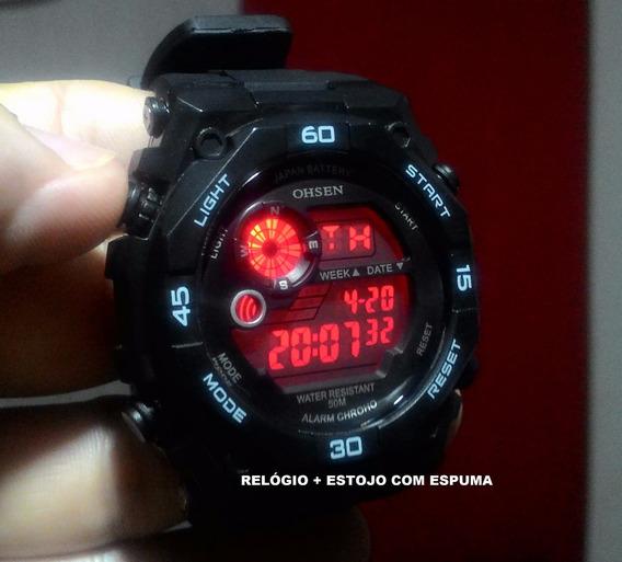 Relógio Masculino Led Digital Prova Dágua Ohsen2810 Original