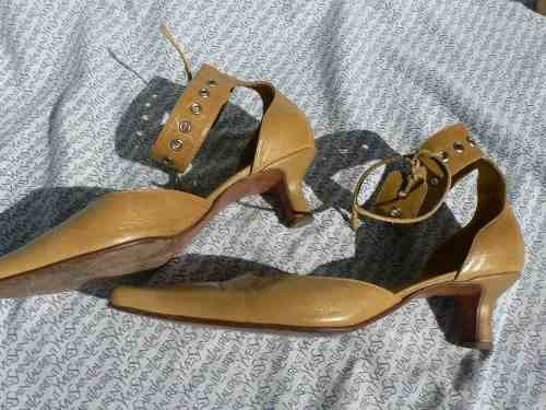 Zapato Sandalia Cuero Sibyl Vane Nº 39 713enanitos
