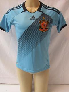 Camisa De Futebol Da Seleção Da Espanha Modelo Azul Infantil