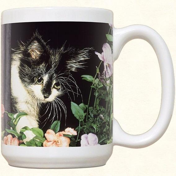 Mug Porcelana Gatos 1 Y Mouse Pad