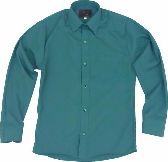 Camisa De Vestir Para Adulto Verde Jade 34 A 42