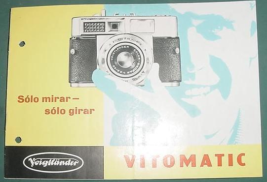 Publicidad Folleto Camaras Fotograficas Voiglander Vitomatic