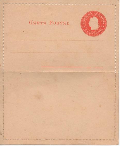 Carta Manuscrita Postal Muy Antigua Sello 4 Centavos