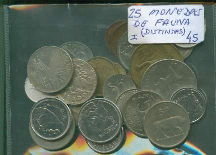 Lote De 25 Monedas De Fauna ¡ Distintas !