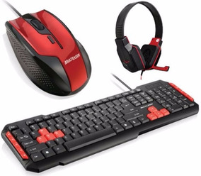 Combo Gamer Teclado +mouse+headphone Multilaser Original