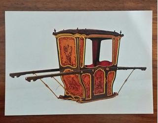 Cartão Postal Liteira Museu Nacional Dos Coches