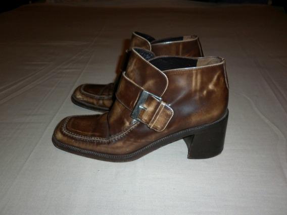 Zapatos Botas Bajas Vs Made In Italy Con Hebilla Talle 6y1/2