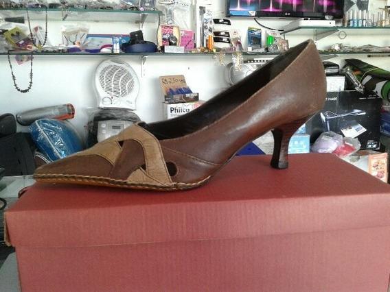 Sapato Feminino Couro Legítimo Feito A Mão