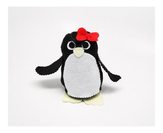 Bonequinho Pinguim Fêmea Pronta Entrega