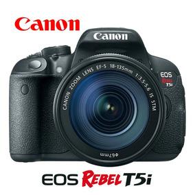 Câmera Canon Rebel T5i + Lente 18-55mm + Cartão De 64gb