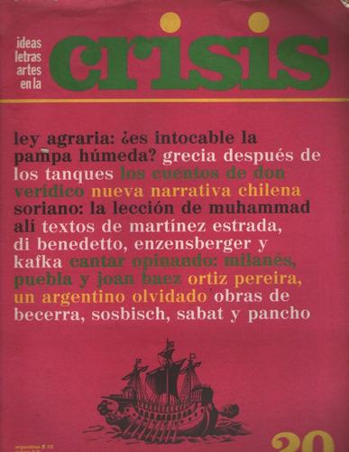Revista Crisis 20 Diciem 1974 Muy Buen Estado Inc Serigrafia