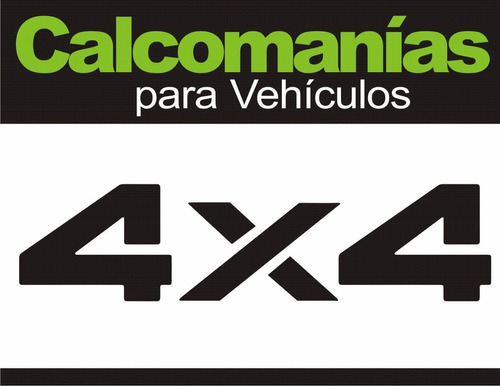 Calcomania 4x4  (contenido: 2 Unid.)