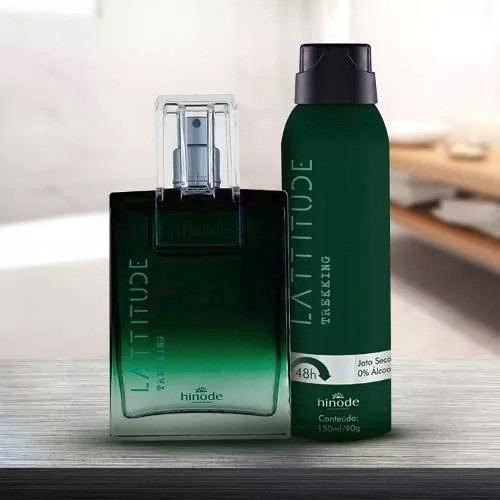 Kit Perfume Hinode Latitude + Desodorante Aerosol Promoção